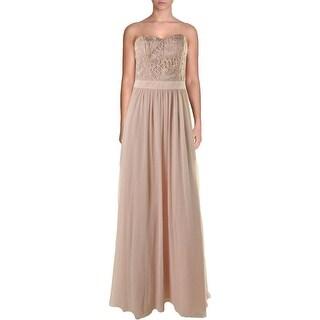 Aidan Mattox Womens Semi-Formal Dress Chiffon Strapless