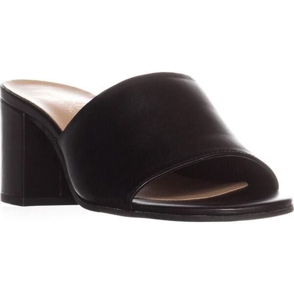 Bella Vita Mel Italy Block Heel Slide Sandals, Black - 8.5 w us