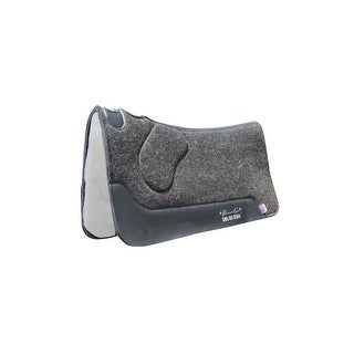 Professionals Choice Saddle Pad Wool Felt 29 x 30 Charcoal - 29 x 30