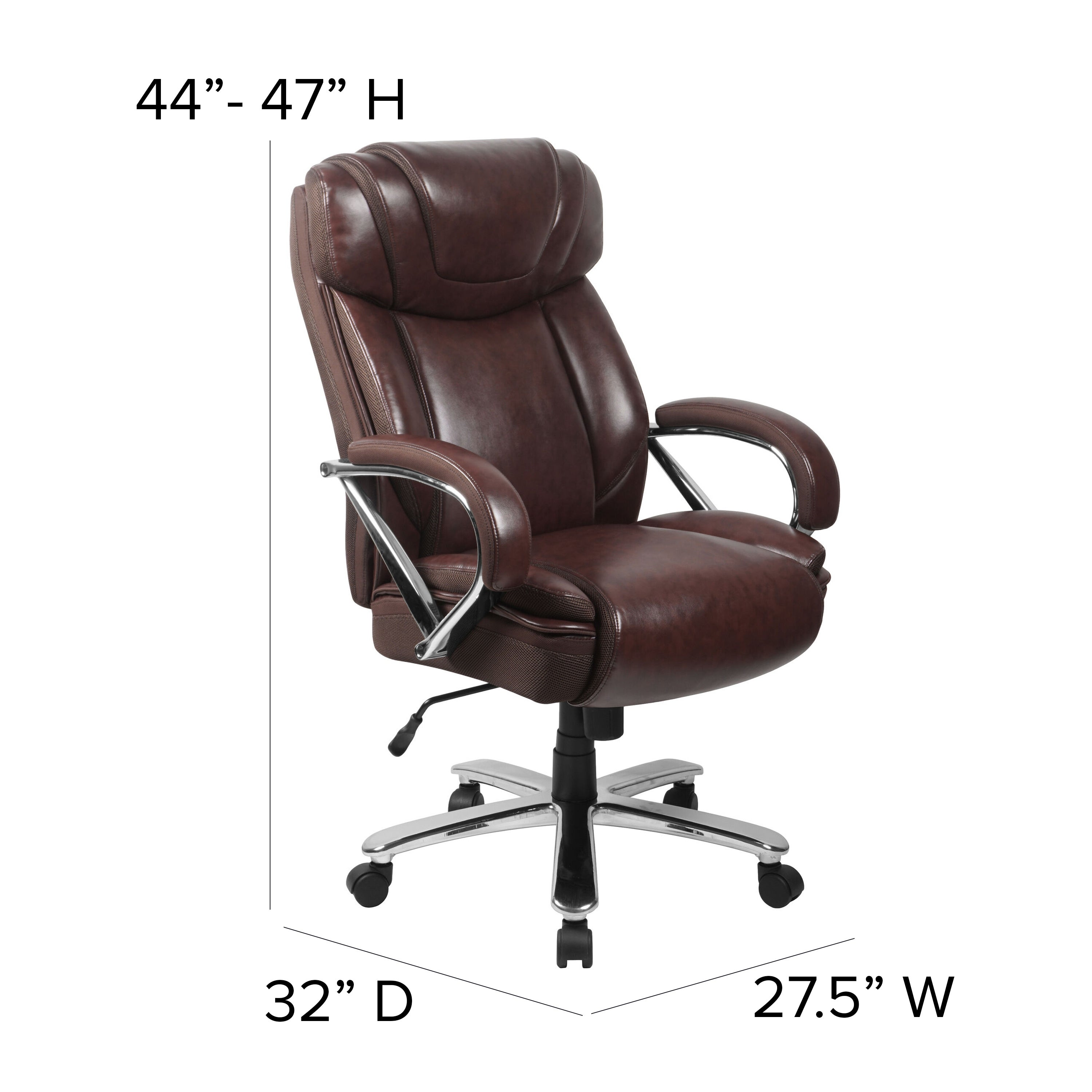 Picture of: Big Tall 500 Lb Rated Leathersoft Swivel Office Chair W Extra Wide Seat On Sale Overstock 14216983
