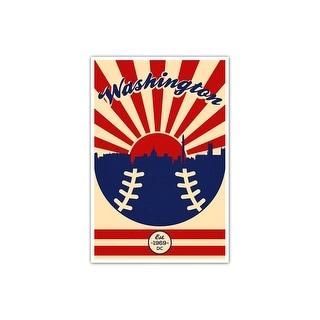 Washington - Vintage MLB - 24x36 Gallery Wrapped Canvas Wall Art