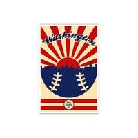 Washington - Vintage MLB - 24x36 Gallery Wrapped Canvas Wall Art