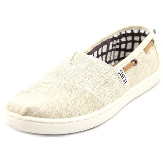 Toms Bimini Youth Round Toe Canvas Tan Sneakers