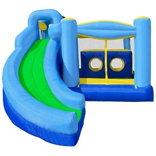 Cloud 9 Mighty Bounce House - Quad Combo - Inflatable Kids Jumper without Blower