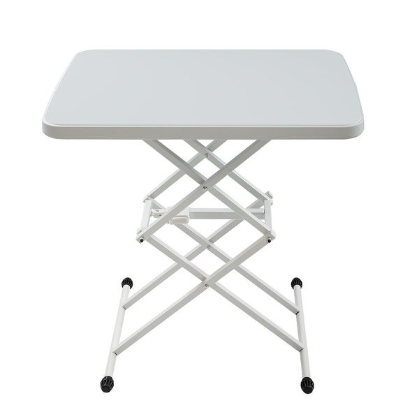 25x17 in Square Plastic Folding Card Table Lifting Desk Height. Opens flyout.