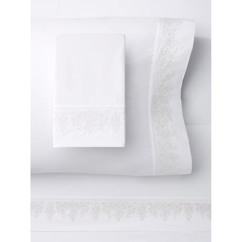 Baby's Breath Embroidery Percale Cotton Sheet Sets