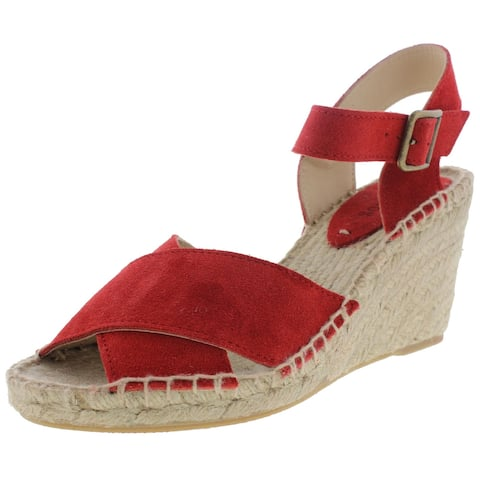 Soludos Womens Wedges Suede Espadrille