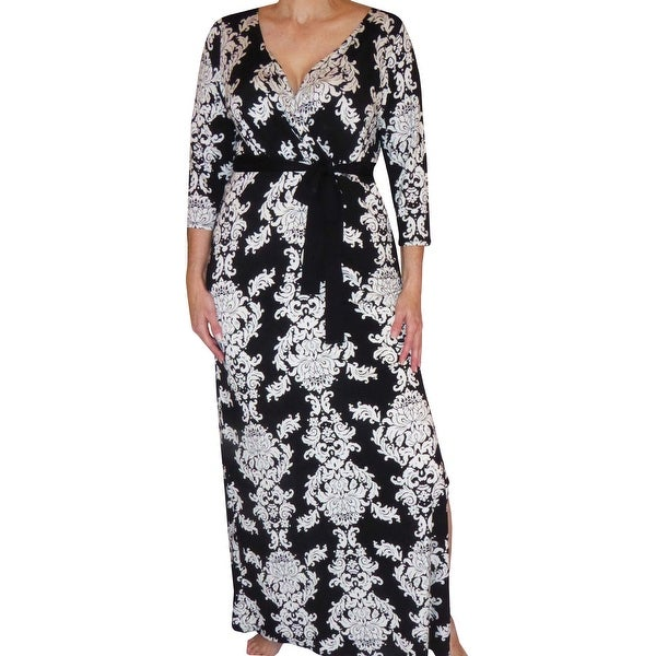 Funfash Plus Size Clothing Black Slimming Gothic Wrap Long Maxi Dress New Made in USA