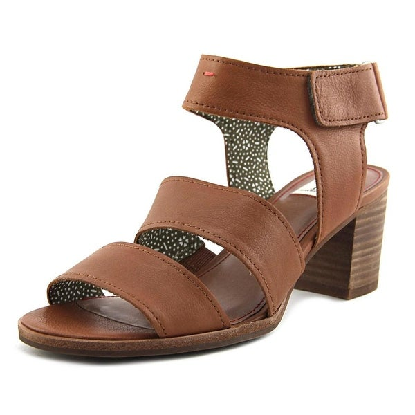 ED Ellen DeGeneres Tahni Women Open Toe Leather Tan Sandals