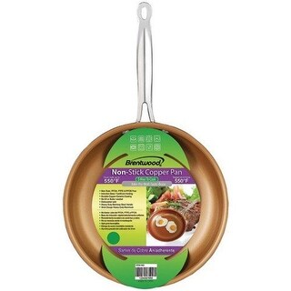 Brentwood BFP-322C 8.5 in. Nonstick Induction Copper Fry Pan