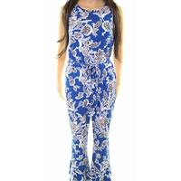 Vince Camuto Womens Woodblock Floral Print Jumpsuit