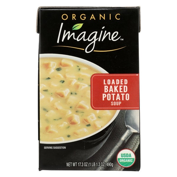 Imagine Foods Potato Soup - Loaded Baked - Case of 12 - 17.3 oz.