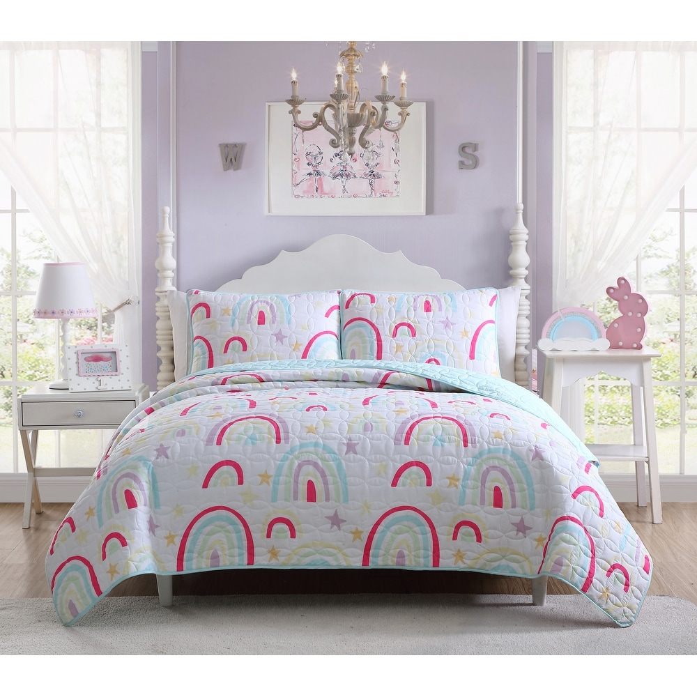Kids Zone Collection Bedspread Coverlet Kids//Teens Anchor Sailboat Seahorse Starfish Whale Turtle Stars Steering Wheel Helm Nautical Dark Blue Light Blue Red White New # My Anchor Full//Queen