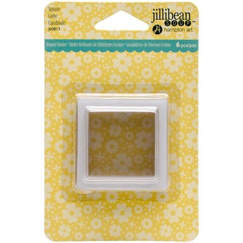 Hampton Art JB0813 Jillibean Soup Pac Card Shakers (6 Pack), Square, Clear