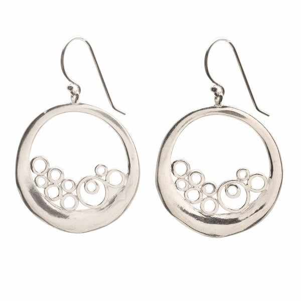 Women's Sterling Circles Earrings - Silver