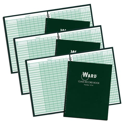 Class Record Book, 12-14 Week Grading Periods, Pack of 3