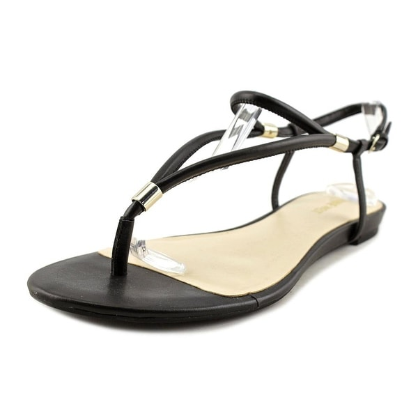60f4f468110772 Shop Nine West Rivers Women Open Toe Synthetic Black Thong Sandal ...