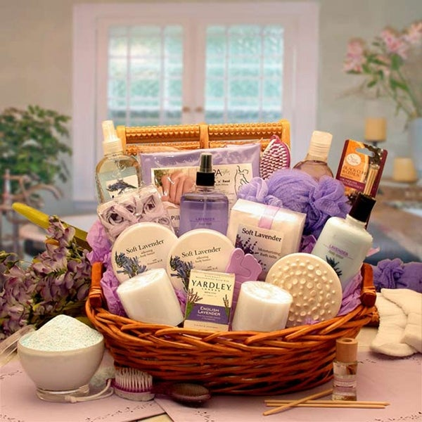The Essence of Lavender Spa Gift Basket. Opens flyout.