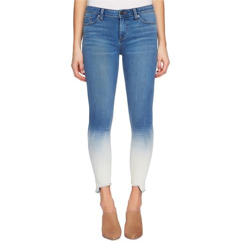 1.STATE Womens Dip Dye Skinny Fit Jeans, Blue, 24