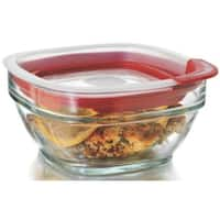 Rubbermaid 2856003 Glass Food Storage Container, 2.5 Cup, Square