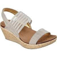 Skechers Women's Beverlee Smitten Kitten Wedge Sandal Taupe