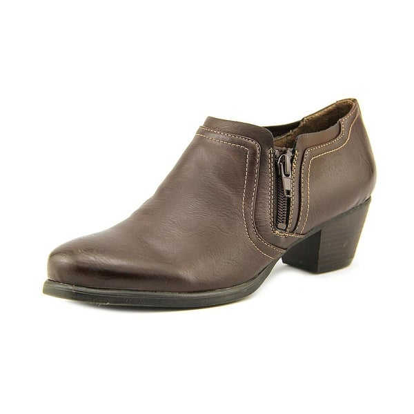 NaturalSoul by Naturalizer Kasta Women Round Toe Synthetic Brown Bootie