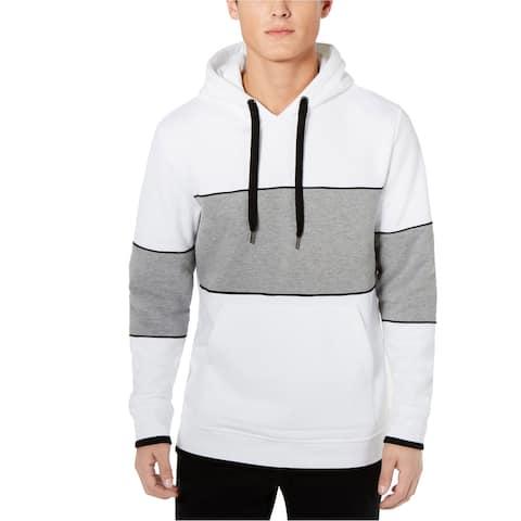 American Rag Mens Colorblocked Hoodie Sweatshirt, White, X-Large