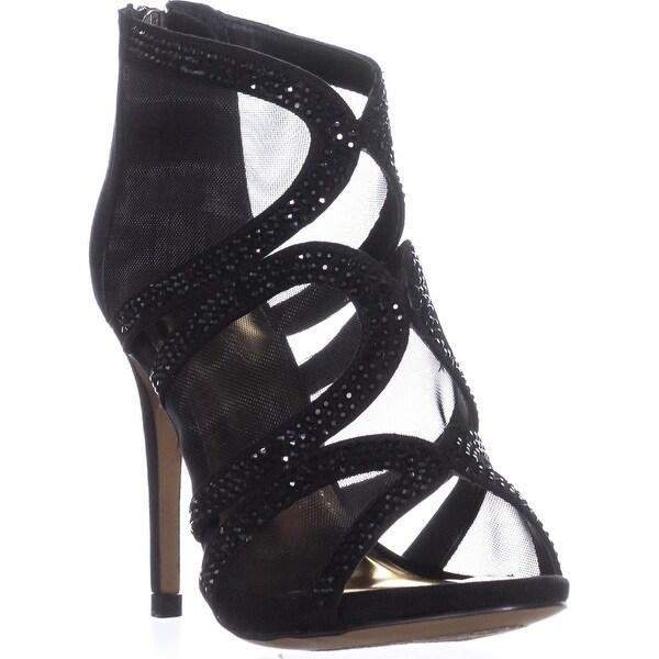 TS35 Fabiaa Mesh Dress Sandals, Black - 6 us