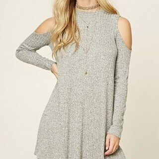High-quality Womens Strapless Long Sleeve Knit Dress Sweater + Free Black Boho Necklace Choker