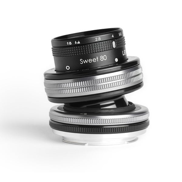 Lensbaby Composer Pro II with Sweet 80 Optic for Canon EF - Silver