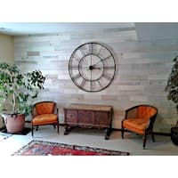 Timberchic Reclaimed Wooden Wall Planks - Peel and Stick Application (20 Sq. Ft.) (Coastal White) - White