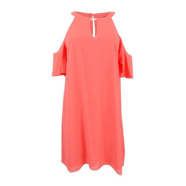 Vince Camuto Women's Cold-Shoulder Keyhole Shift Dress