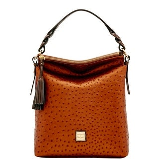 Dooney & Bourke Ostrich Small Sloan (Introduced by Dooney & Bourke at $288 in Jun 2017) - bronze grey
