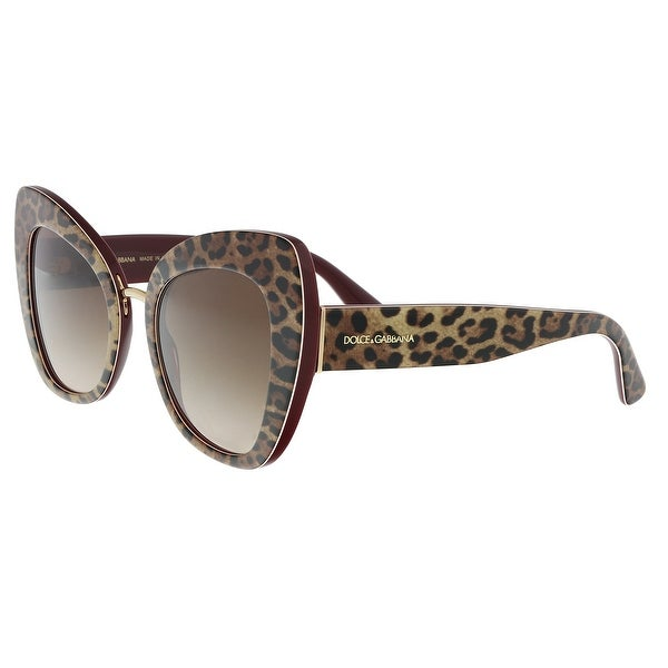 219a5d375e5 Dolce  amp  Gabbana DG4319 316113 Leo on bordeaux Cat Eye Sunglasses - 51-22