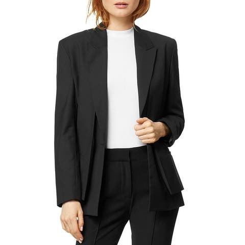 Habitual Womens Kinley Blazer 3-in-1 Vest - Jet Black