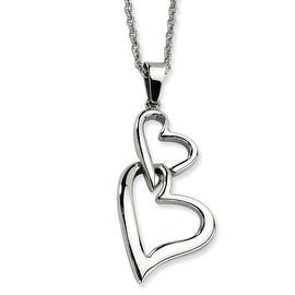 Chisel Stainless Steel Heart Pendant 22 Inch Necklace (1 mm) - 22 in