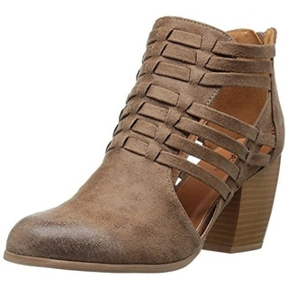 Qupid Womens Ankle Boots Faux Leather Cut-Out