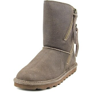 Bearpaw Mimi Women Round Toe Leather Brown Winter Boot