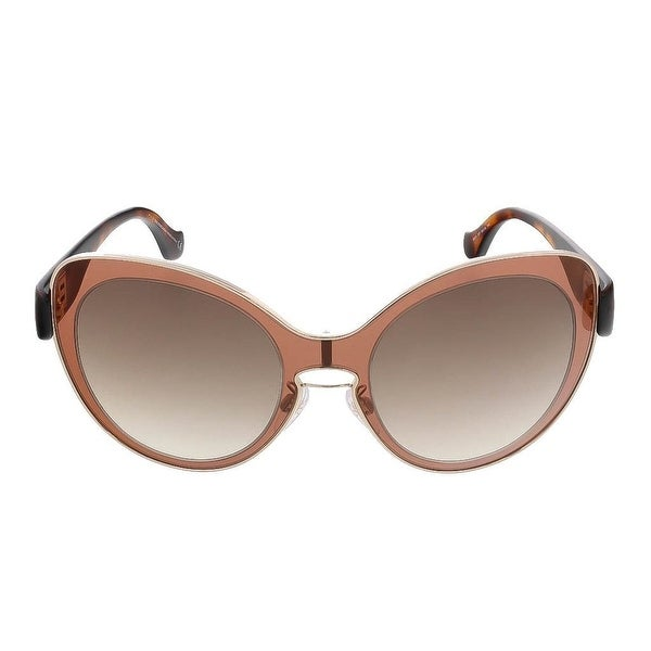 Balenciaga Women's Mauve Pink Havana Round Sunglasses
