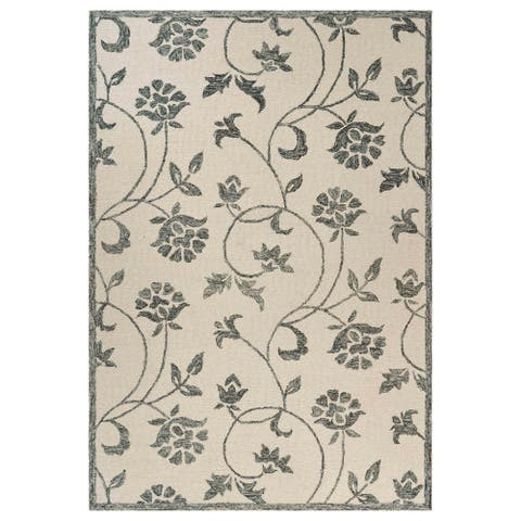 LR Home Divergence Hint of Floral Area Rug