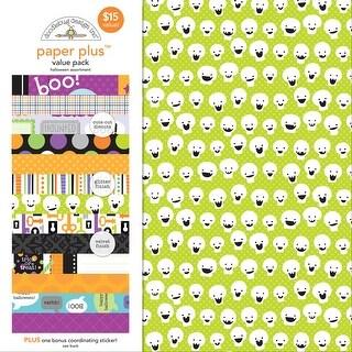 """Doodlebug Paper Plus Value Pack 12""""X12"""" 8/Pkg-Halloween"""
