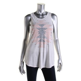 Lucky Brand Womens Printed Racerback Tank Top