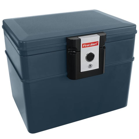 First Alert 2037F 1071.4 Cubic Inches Waterproof Fire Resistant File Chest - slate - N/A