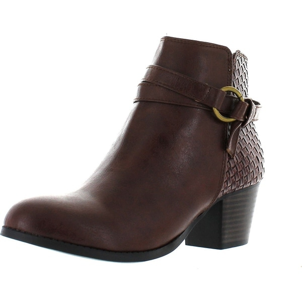 Soda Women's Finery Chunky Heel Bootie Boots