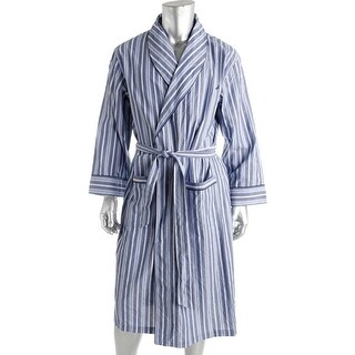 Nautica Mens Woven Striped Long Robe - L/XL