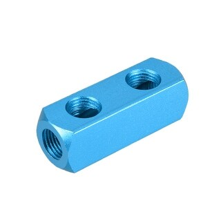 "1/4"" G Thread Pneumatic 5 Port 2 Way Air Hose Inline Manifold Block Splitter - 5Ports 2 Ways 1/4"" G"