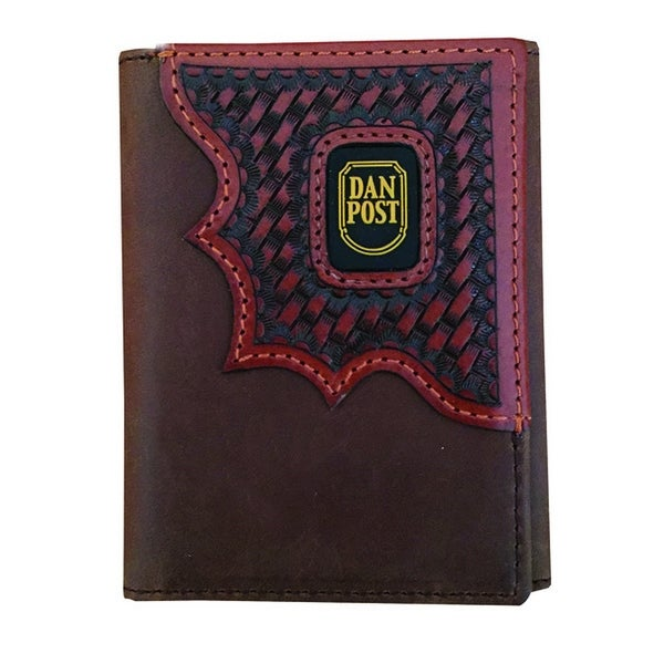 Dan Post Western Wallet Mens Trifold One Size Smooth Brown - One size