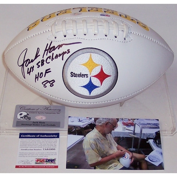87ece1c92 Shop Jack Ham Autographed Hand Signed Pittsburgh Steelers Logo Football -  PSA.DNA - Free Shipping Today - Overstock - 13073281