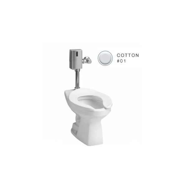 Shop Toto CT705EN Flushometer Elongated 1.28 GPF Toilet Bowl Only ...