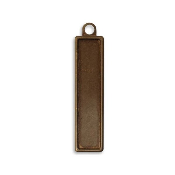 Vintaj Natural Brass Blank Rectangle Bezel Pendant 56x13mm (1)